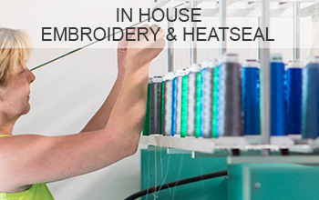 """<h3>In House Embroidery & Heatseal</h3><p>In house embroidery and Heatseal offers the ultimate in garment decoration, with the benefit of quality control, a speedy service and results that last.</p><p class=""""more-info"""">MORE INFO</p>"""